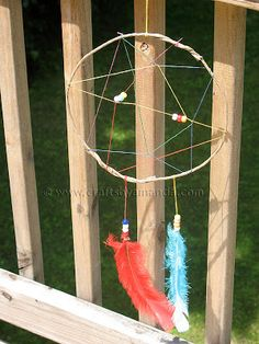 Camp Crafts: Rainbow Dream Catcher - Crafts by Amanda