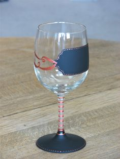 Tag...You're It!  chalkboard wine glass  from chic chalk designs