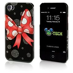 Disney Minnie Mouse Bow iPhone 4/4S Case | Disney StoreMinnie Mouse Bow iPhone 4/4S Case - Tie a neat ribbon on every conversation with Minnie's protective clip case for iPhone 4 and 4S, featuring her famous polka dot bow and glitter galore!