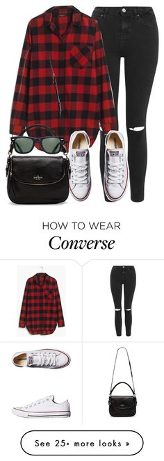 """""""Style #10193"""" by vany-alvarado on Polyvore featuring Topshop, Madewell, Converse, Kate Spade and Ray-Ban"""