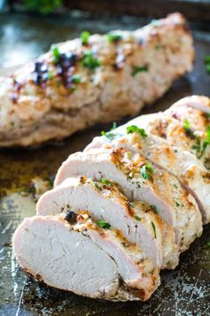 Juicy Pork Loin Recipe, Healthy Pork Tenderloin Recipes, Pork Loin Grill Recipes, Grilling Recipes, Pork Recipes, Cooking Recipes, Cooking Pork, Griddle Recipes, Traeger Recipes