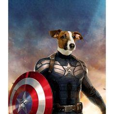 Captain Pawmerica: Custom Pet Digital Portrait