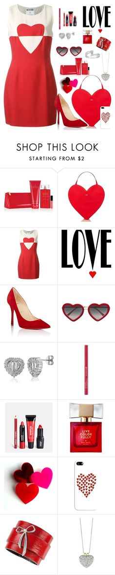 """Love Is All You Need"" by beleev ❤ liked on Polyvore featuring Elizabeth Arden, Kate Spade, Moschino, Christian Louboutin, Markus Lupfer, BERRICLE, Avenue, Casetify and BillyTheTree"