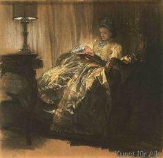 Adolph Friedrich Erdmann von Menzel - Lesende Dame