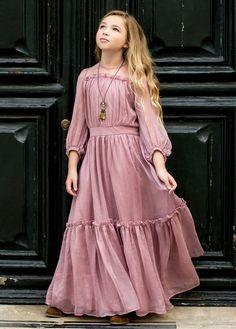 dresses kids girl Jeune Fille Clothing Dresses Page 7 Joyfolie Girls Fashion Clothes, Fashion Kids, Women's Fashion Dresses, Girl Fashion, Girl Outfits, Fashion 2020, Dress Outfits, Fashion Design, Fashion Trends