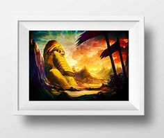 Lamassu Art Assyrian Paintings Digital Art Assyrian by DoniainArt