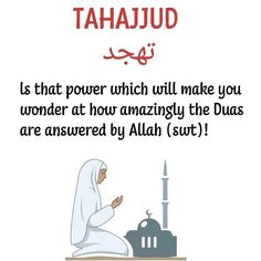 The power of Tahajjud prayer. Muslim Love Quotes, Beautiful Islamic Quotes, Religious Quotes, Islam Love, Islamic Phrases, Islamic Messages, Islamic Qoutes, Islamic Dua, Arabic Quotes