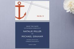 Regatta Save the Date Cards by Oscar & Emma at Minted.com