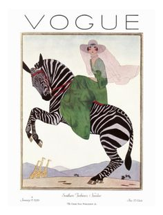 Vogue Cover - January 1926 Giclee Print by André E. Marty at Art.com