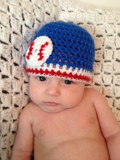 Newborn Baby Boy Baseball Beanie