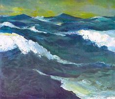 """The Sea"" by Emile Nolde, 1913"