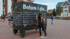 Before I Die, interactive public art project
