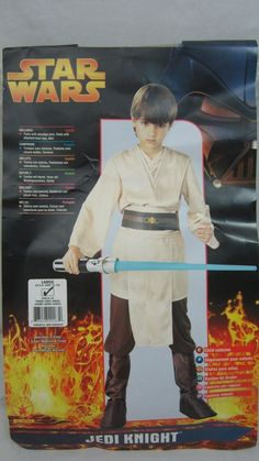 Star Wars Deluxe Jedi Knight Boys Halloween Costume Size Large 12 14 NEW #Rubies #CompleteCostume