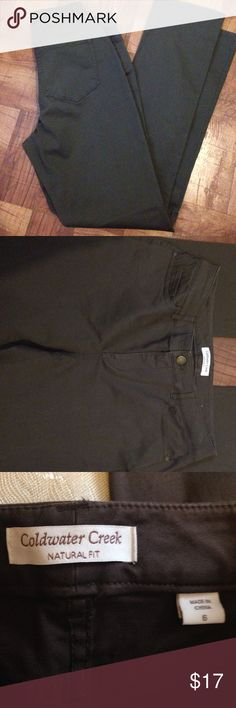 ❤️Like new Coldwater Creek pants/jeans. Sz 6. Like new jeans/pants from Coldwater Creek. Sz 6 Natural fit. Coldwater Creek Jeans