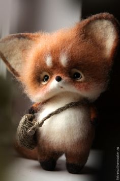 Ideas Baby Animals Art Sweets For 2019 Needle Felted Animals, Felt Animals, Cute Baby Animals, Funny Animals, Wet Felting, Needle Felting, Fox Toys, Cute Toys, Felt Diy