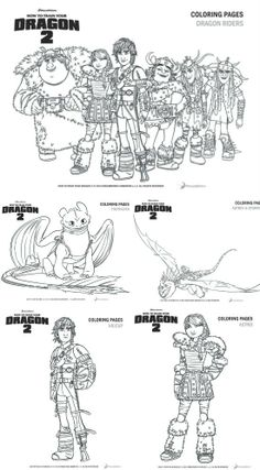 How To Train Your Dragon 2 Printable Coloring & Activity Pages