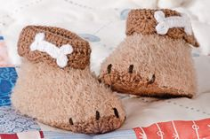 Babyschühchen häkeln: Süße Hundepfötchen