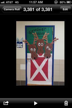 perfect for my little dutch door! Classroom Door, Classroom Design, Classroom Ideas, School Door Decorations, Christmas Decorations, Door Bulletin Boards, Class Door, School Doors, Holidays And Events