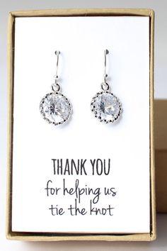 Gorgeous bridesmaid earrings!