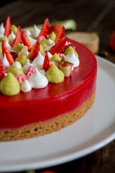 Tarte Fraises Rhubarbe Dessert Aux Fruits, Kitchen Recipes, Brownies, Panna Cotta, Cheesecake, Deserts, Food And Drink, Gluten Free, Vegan