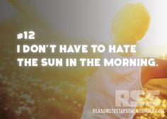 I don't have to hate the sun in the morning. #sober #sobriety #recovery #addiction