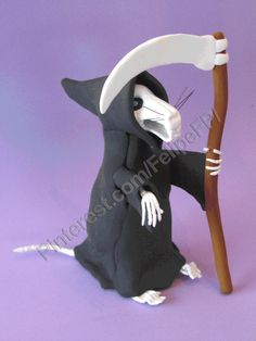 Death of rats (Discworld - Terry Pratchet) Materiales: jumping clay y alambre - By Felipe Figueirido Prado