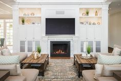 Custom House Design - Concept To Design Living Room Tv, Living Spaces, Tv Built In, New Construction, Home Values, Home Interior Design, Custom Homes, Design Projects, Outdoor Living