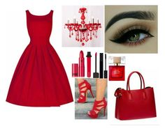 """""""All red everything"""" by susanazizumbo on Polyvore featuring Jouer, Lipstick Queen, Gucci and Kate Spade"""