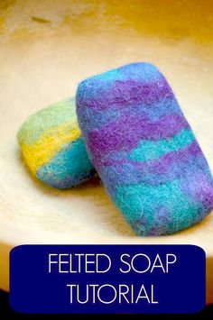 A cool tutorial. Learn how to create felted soap. What a fun project. #soap #felted #feltedsoap