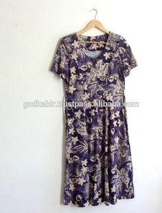 Beautiful printed dress blue 1990s button up dress // maxi dress // medium // floral print dress #1990s, #dress