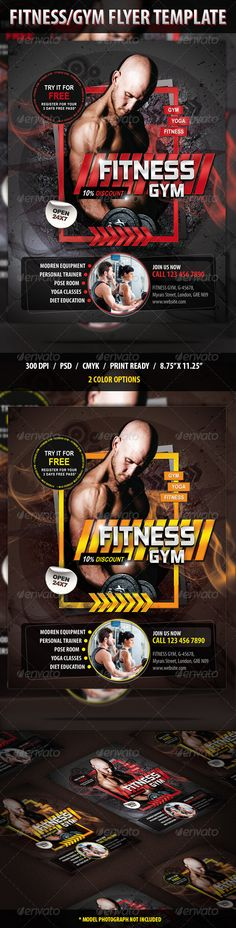 Fitness/Gym Flyer Template PSD | Buy and Download: http://graphicriver.net/item/fitnessgym-flyer/8684523?WT.ac=category_thumb&WT.z_author=anshi&ref=ksioks