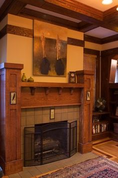 1000 images about craftsman style on pinterest arts for Craftsman fireplaces photos