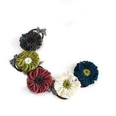cute little crochet hair bands