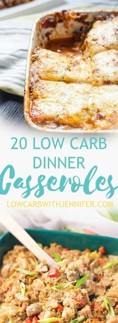 This round-up of Low Carb Dinner Casseroles will provide all of that yummy comfort we are all looking for this time of year!