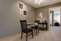 Separate dining and living room areas