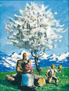 Alfons Walde - Blühender Baum (1925) Illustration, Austria, Artist, Victoria, Camping, Paintings, Inspiration, Vintage, Paint