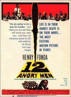 "Vintage movie poster ""12 Angry Men"" (1958)"