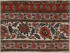 Fragment of bed cover (Palampore) Indian, 19th century