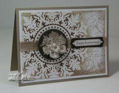 Pretty card made by Lynn of www.lwdesigns.blogspot.com  LW Designs: Elegant Embossed Medallion