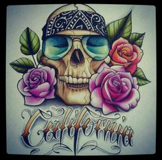 Skull n Crow - Tattoo Design by artisticrender on DeviantArt Crow Tattoo Design, Tattoo Designs, Tattoo Ideas, Cali Tattoo, Floral Skull Tattoos, Prison Art, Lowrider Art, Sweet Tattoos, Skull Wallpaper