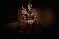 The Satanic Temple of Detroit's Bahomet momument