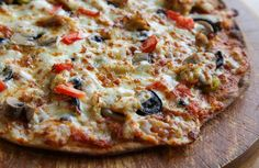 This is a GREAT pizza dough...but keep in mind the nutrition information is for the crust only!