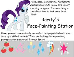Oiralinde: My Little Pony Carnival Cutie-mark face painting - maybe get some of the Silhouette tattoo paper and make cute marks?