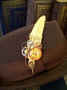 Steampunk Hat Pin or Brooch