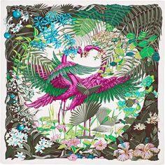 La Maison des Carrés Hermès   Flamingo Party