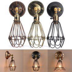 E27 Loft Metal Retro Vintage Rustic Sconce Wall Light Edison Lamp Bulb Fixture
