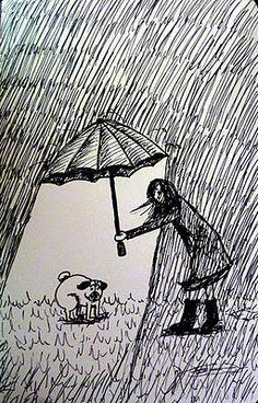 Pug umbrella assistant