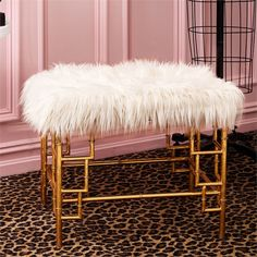 Faux Fur Bench in Gold Bamboo from Fig Linens and Home. Saved to home. Shop more products from Fig Linens and Home on Wanelo. Stylish Home Decor, Unique Home Decor, Diy Home Decor, Gold Furniture, Modern Furniture, Furniture Decor, Large Glass Jars, Curtain Styles, Dressing Area