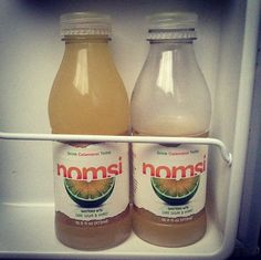 Mmm! It doesn't get much better than fresh Nomsi stocked in the mini fridge. Though, uh, we may have helped ourselves to half a bottle. Yum.