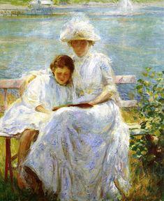 """June Sunlight,"" Joseph Rodefer de Camp, 1902. Oil on canvas. 25 x 30, Private collection"